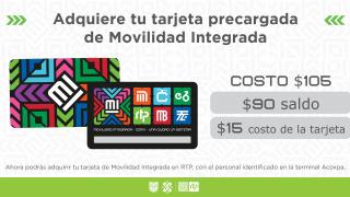 La Red de Transporte de Pasajeros de la Ciudad de México distribuirá la tarjeta de Movilidad Integrada en la terminal Acoxpa.